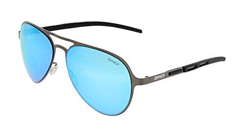 SINNER Sonnenbrille Herren & Damen in Mehrere Modische Farben - Metall Unisex Pilotenbrille Retro & Vintage Design - Verspiegelt mit 100% UV400 Schutz, Polarisiert & Nicht Polarisiert