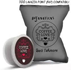 100 capsule compatibili sistema Lavazza* espresso Point FAP by Coffee Love