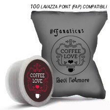 Coffee Love 100Lavazza Point (FAP) - Cápsulas de café compatibles con cafetera Lavazza