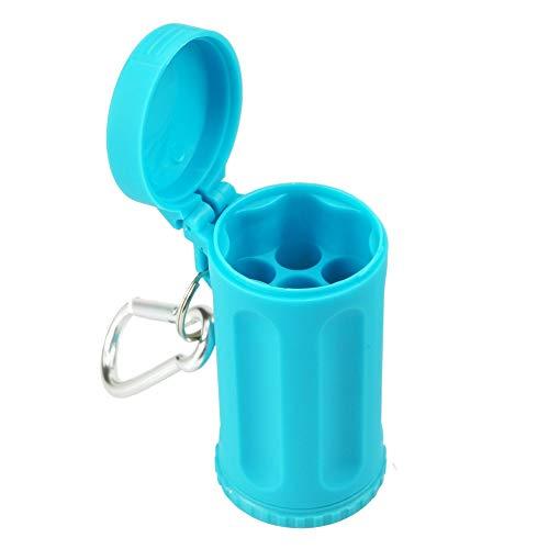 HESHI Aschenbecher Mini Tragbarer Öffentlicher Taschenaschenbecher Candy Farbe Auto Aschenbecher Mini Outdoor Strandaschenbecher Rot Schwarz Blau Lila Grün (Color : Blue) (Candy Rot Schwarz Und)