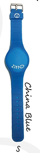 Orologio ZITTO a led con cinturino in silicone China Blue Blu Grande