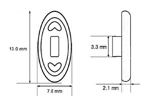 5 Paare 13 mm / .5'' Oval Fein Silikon Brillen Nasenpads / Brillenpads Schraub System