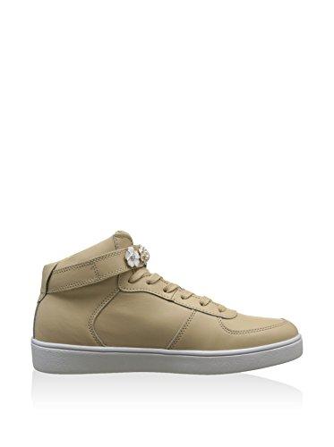 Scarpe Sneakers Alte Donna Guess Mod. Suzette FLSUT1-LEA12 Col. Beige. Beige