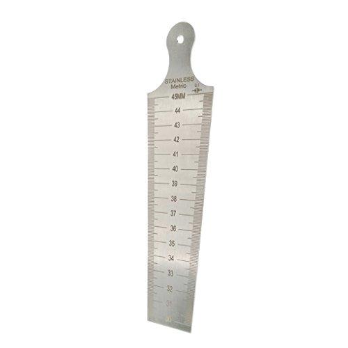 Homyl Edelstahl Taper Maßstab Fühlerlehre Kit schweißnahtprüfung Lineal Messung Kegelmessgerät - Silber, 30-45mm Doppelseite