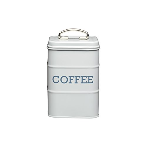 Kitchen Craft Living Nostalgia Metall Tee Caddy, 11 x 17 cm Kaffeebehälter French Grey