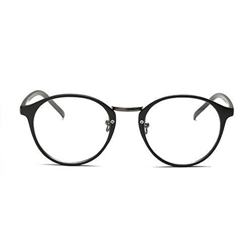 [Garantie à vie] Lunettes de repos anti-lumière bleue anti-fatigue style retro vintage noire munies de lentilles transparentes SCT ...