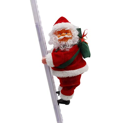 BESTOYARD Puppenweihnachtsbaumverzierungs-Weihnachtshängende Dekoration der Weihnachtsmanns kletternde elektrische (Musikalischer Christbaumschmuck)