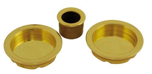Chrisligne P0189/1V - Kit di maniglie per porta, colore: Oro lucido verniciato