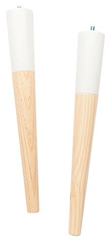 Ohmyleg Sullivan 350 Patas, Madera, Natural y Blanco, 35 x 4 cm, 4 Unidades