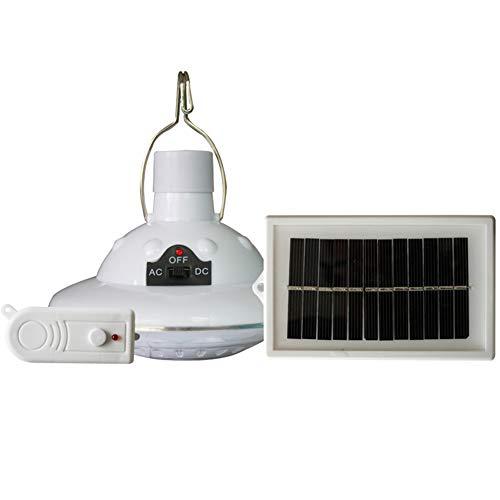 Luces LED de campamento, 22 luces LED para exterior/interior, lámpara solar, gancho para campamento, iluminación de jardín con mando a distancia, lámpara de araña de iluminación de emergencia