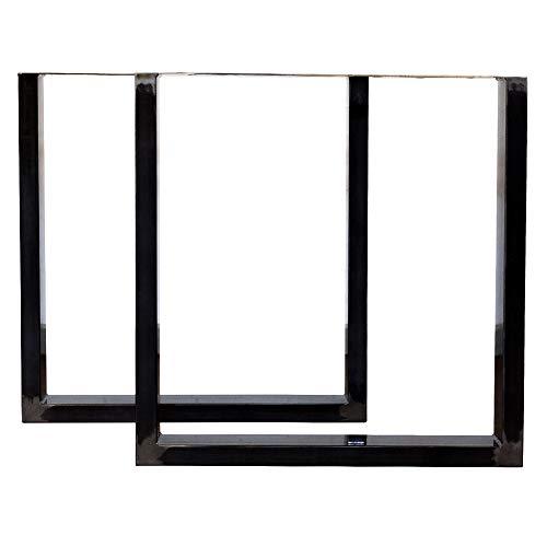 Tischbeine in U-Form aus Edelstahl, für Esszimmer, Wohnzimmer, Büro, Schreibtischbank, handgefertigt, quadratisch, Metall, 3 Oberflächen