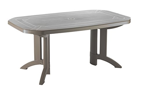 GROSFILLEX 52174181 Table Vega 165 x 100, Taupe, 165 x 100 x 72 cm