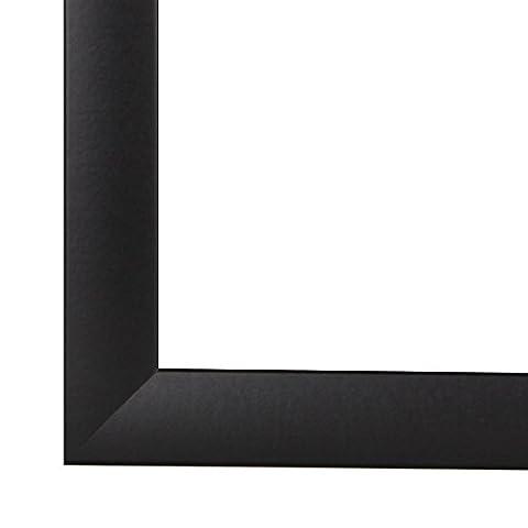 Cadre de Photo Cadre d'image CAPRY 80x120 cm ou 120x80 cm in NOIR avec Anti-reflet verre artificielle et le panneau arrière, 50 mm baguettes d'encadrement MDF et feuille décorative entièrement