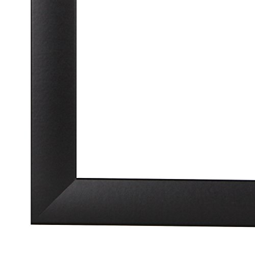 Bilderrahmen OLIMP 10x20 oder 20x10 cm in SCHWARZ mit normal Kunstglas und MDF Rückwand, 35 mm breite MDF-Leiste mit Dekor Folienummantelung (18-poster Apollo)