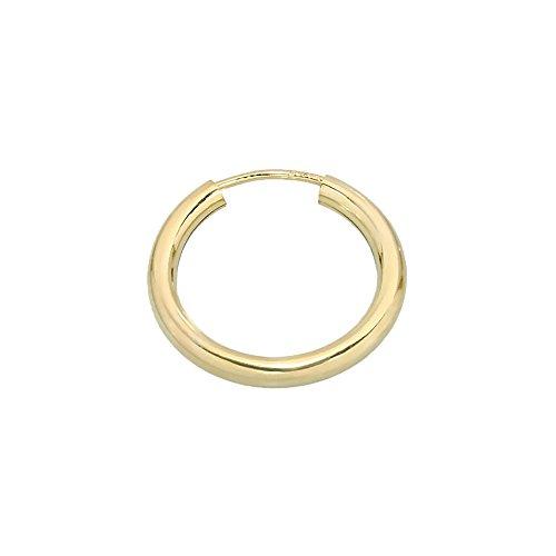 NKlaus EINZEL 585 gelb Gold CREOLE Ohrring Ohrschmuck rund Goldohrring 20mm 1853