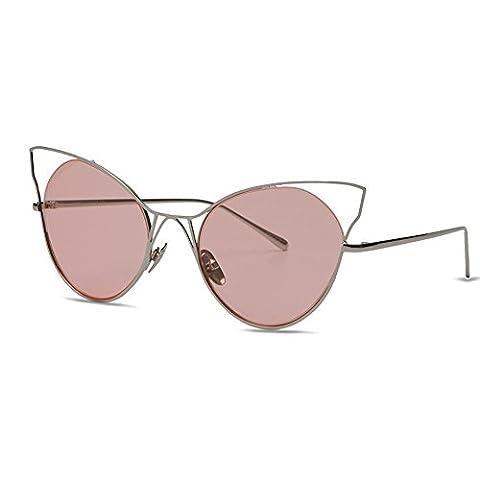 KALLEYA Fashion Sommer Sonnenbrille für Frauen Metall Rahmen Farbe Linse Katze Sonnenbrille Outdoor für Driving Travel Strand , (1 Oval-türkis-armband)