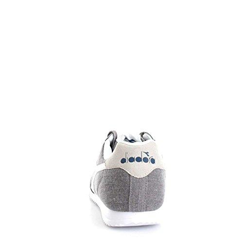 Diadora Jog Light C, Sneaker a Collo Basso Unisex-Adulto Grigio/Bianco