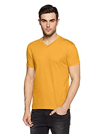 Jockey Men's T-Shirt (8901326123010_2726_Burnt Gold_Small)