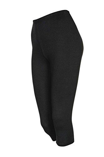 2 Stück DeDavide Damen 3/4 Hosen Radlerhosen Capri aus Baumwolle, 16 verschiedene Farben