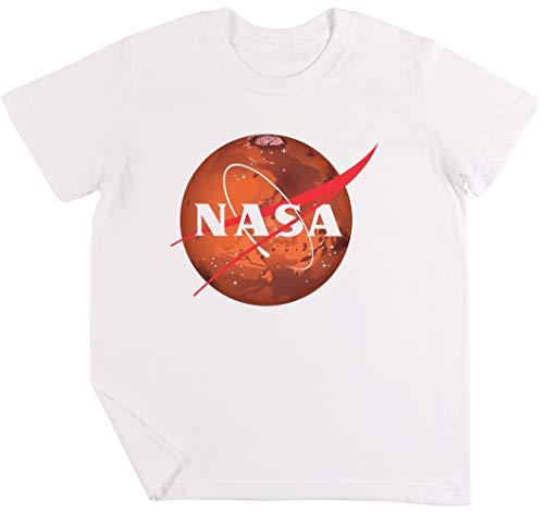 NASA Marte Niños Chicos Chicas Unisexo Camiseta Blanco