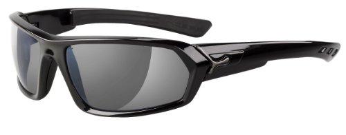 Cébé Sonnenbrille, S'Teem Shiny Black 1500 Grey AR Flash Mirror, L