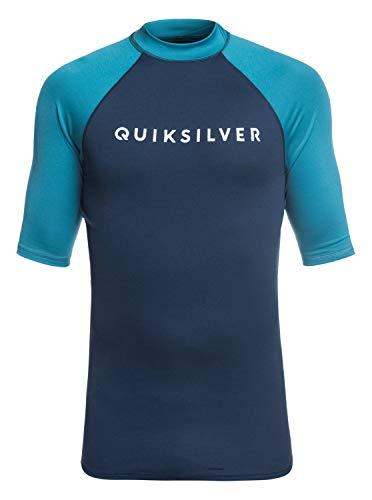 Lycra-top-t-shirts (Quiksilver Herren Always There S/sl Surf Tee, Medieval Blue, S)