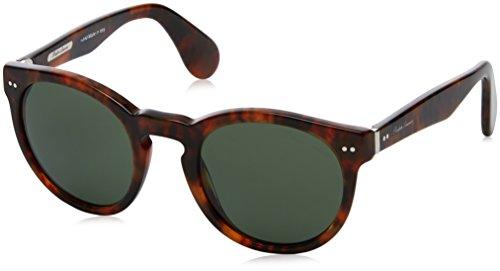 Ralph lauren 0rl8146p1752, occhiali da sole uomo, marrone (jerri havana/green), 49