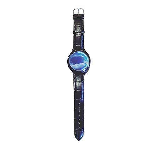 Quartz Armbanduhr, Luotuo Herren Klassisch Mode Analog Quarz Uhr Luxus Business Groß Zifferblatt Uhrenarmbänder,Simple Beiläufig Wrist Watch für Männer