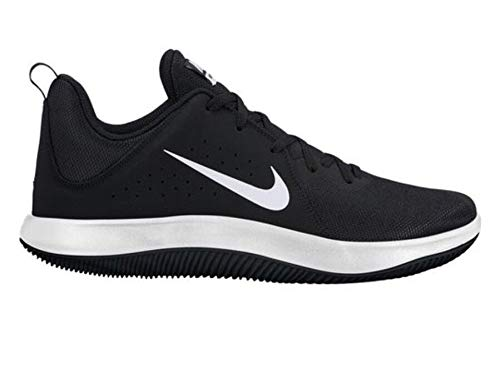 NIKE Men's Black/White Fly by Low Running Shoes (908973-001)