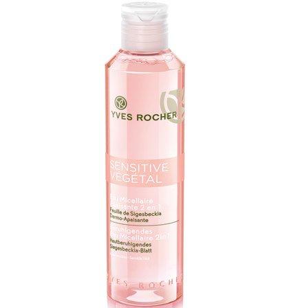 Yves Rocher SENSITIVE VÉGÉTAL beruhigendes Eau Micellaire 2in1, belebendes Mizellenwasser für empfindliche Haut, 1 x Flacon 200 ml