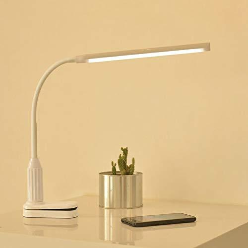 Lámpara de mesa con 24 LED de protección ocular con pinza de sujeción regulable y flexible con luz USB - Enchufar