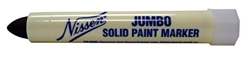 Nissen SPBKJ Jumbo Solid Paint Marker, Black (Pack of 12) by Nissen