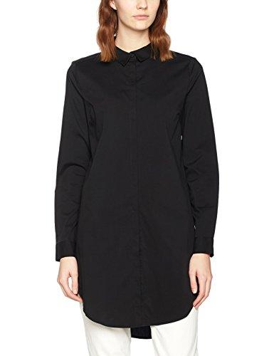 Pieces Pcbenita Ls Long Shirt Noos, Blouse Femme Noir (Black)