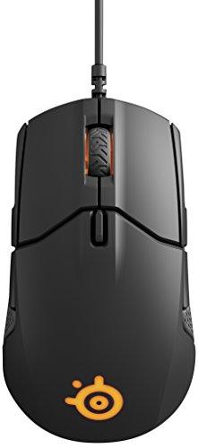 SteelSeries Sensei 310, optische Gaming-Maus, beidhändig, RGB-Beleuchtung, 8 Tasten, seitliche Gummigriffe, (PC / Mac) – Schwarz