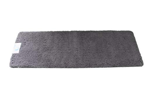 Cazsplash Microfaser Bad Runner Badteppich, Mikrofaser, Grau, 150x 50x 2,5cm