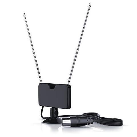 CSL - DVB-T / DVB-T2 Antenne inkl. Saugnapf | gute Empfangsleistung | inkl. Saugnapf | für Innenbereich