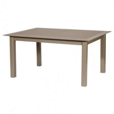 Hespéride Table Allure 10 Personnes alu Verre Taupe