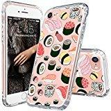 MOSNOVO iPhone 8 Hülle, iPhone 7 Hülle, Niedlich Sushi Muster TPU Bumper mit Hart Plastik Hülle Durchsichtig Schutzhülle Transparent für iPhone 7 (2016) / iPhone 8 (2017) (Sushi)