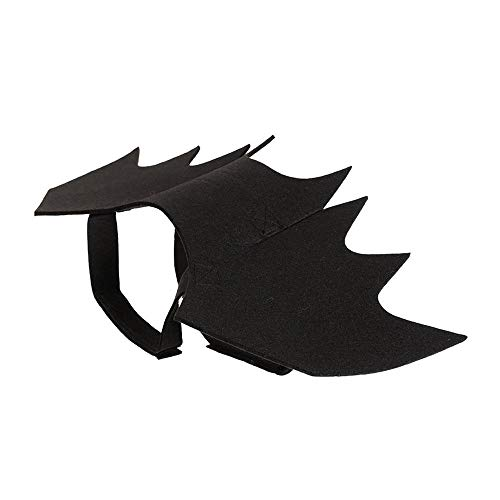 Aolvo Fledermausflügel für Hunde Katzen Katzenhalsband Leine Cosplay Fledermaus Kostüm für Halloween Party Kitty Puppy Dress Up Cosplay Fledermausflügel Zubehör schwarz