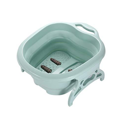 Hzaoyn Fußwanne falten schaum fass kunststoffbecken verdickt kleine fußbad barrel weibliche fußbad massage fußbad barrel hause waschbecken (Color : Green, Size : One code) -