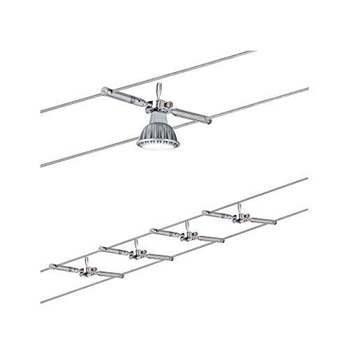 Paulmann 941.46 Seilsystem Togo Set erweiterbar max4x10W Chrom 94146 Seilleuchte Hängeleu