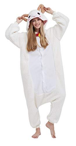 SAMGU Einhorn Adult Pyjama Cosplay Tier Onesie Body Nachtwäsche Kleid Overall Animal Sleepwear Erwachsene Ziege L (Ziege Kostüme Für Erwachsene)