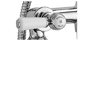Hudson Reed BC304HLWM Grifo con ducha para bañera, plata
