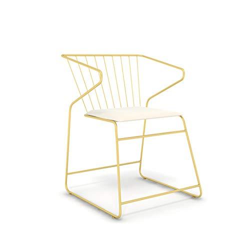 Xingqianru Einfacher Balken-Hohlstab, Coffee-Lounge-Sessel-Empfangsraum Goldener Empfangs Stuhl (52 * 54 * 72Cm) - Faux-leder-empfang