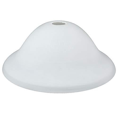 Lampenglas Ø 33,5cm | Ersatzglas mit feiner Struktur in Weiß | Lampenschirm Glas | Leuchtenglas für Deckenleuchte Pendelleuchte