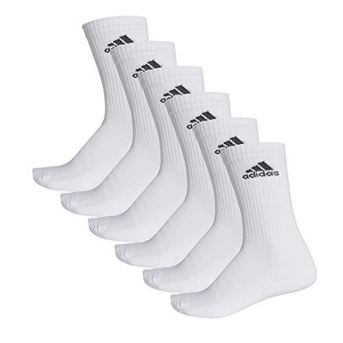adidas 6 Paar Performance CUSHIONED CREW 3p Tennissocken Sportspocken Unisex, Farbe:White, Socken & Strümpfe:46-48