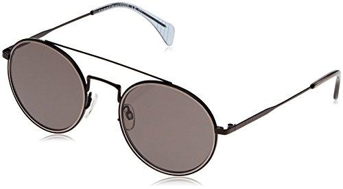Tommy hilfiger th 1455/s nr 006, occhiali da sole unisex-adulto, nero (black/brw grey), 53