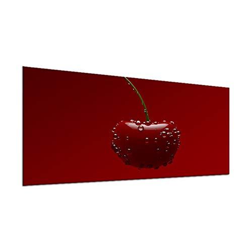 decorwelt | Couvre-plaques de Cuisson Universel en Verre pour plaques de Cuisson 90 x 52 cm 1 pièce Rouge Fruits