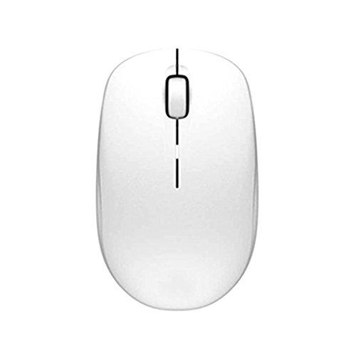 Drahtlose Maus 2.4G USB bewegliche Drahtlose Mäuse Optische PC-Laptop-Computer-schnurlose Maus mit Nano-Empfänger 3 Tasten Glühen mehrfache vorhandene Farben (Farbe : Weiß)
