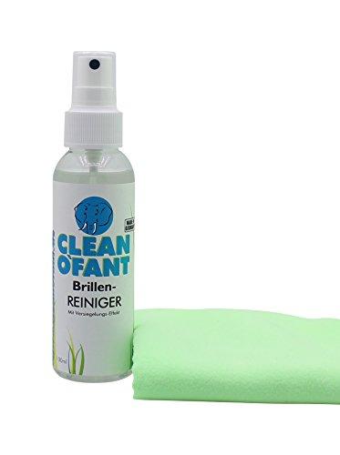 Preisvergleich Produktbild CLEANOFANT Brillen-REINIGER Set - 100 ml Brillenreiniger Spray & sehr feines, weiches Brillenreinigungstuch